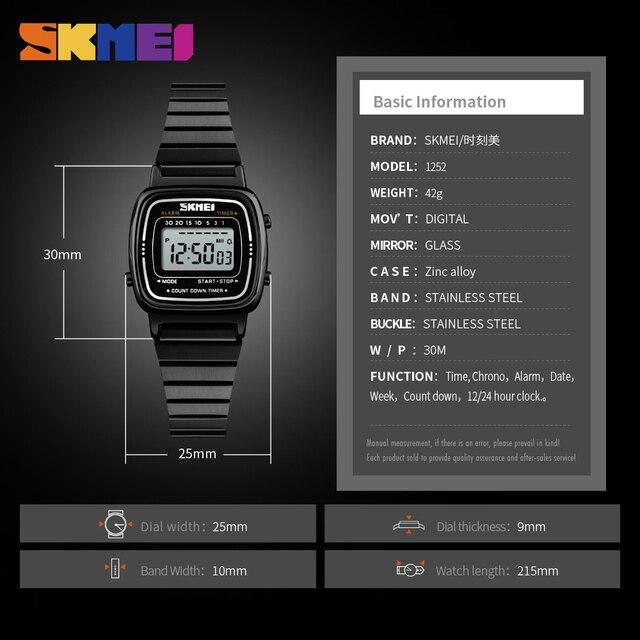 SKMEI Lady Digital Fashion Watch Top brand luxury Casual Waterproof Women Watch Countdown  Alarm Wristwatch Relogio Feminino