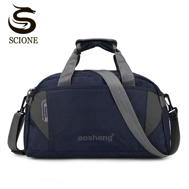 Scione Travel Luggage Handbags Women High Quality Sport Duffel Shoulder Bags Men Simple Casual Fitness Outdoor Crossbody BagTop-Handle Bags   -