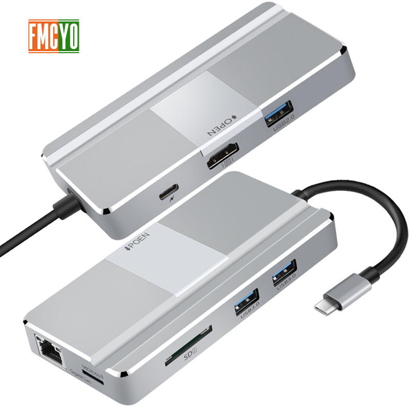 Image 2 - Laptop docking station All in One USB C to HDMI Card Reader  PD Adapter for MacBookType C HUB Docking Station-in Laptop Docking Stations from Computer & Office