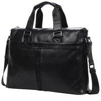 DANJUE Genuine Leather Handbag Men Can Fit 14'' Laptop Bag Classic Black Briefcase Male Messenger Bag Leather Business New Bag