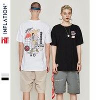 INFLATION T Shirt Men Japanese Retro Men's Tee Shirts O neck T Shirt Cotton2019 Fashion High Street Hip hop Couple Tee 91190S