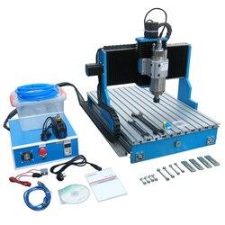 CNC 6040 prowadnica liniowa śruby kulowej 2.2KW chłodzenia wodą 4 osi grawerka metalowa cnc wiertarko-frezarka cnc router