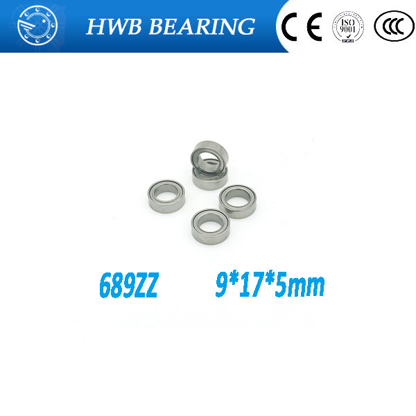 Free Shipping 10 PCS 689ZZ Bearings 689 ZZ 689-2Z 9x17x5 mm Miniature Ball Bearings  Thin Wall Deep Groove Ball Bearing 618/9z sinix 689
