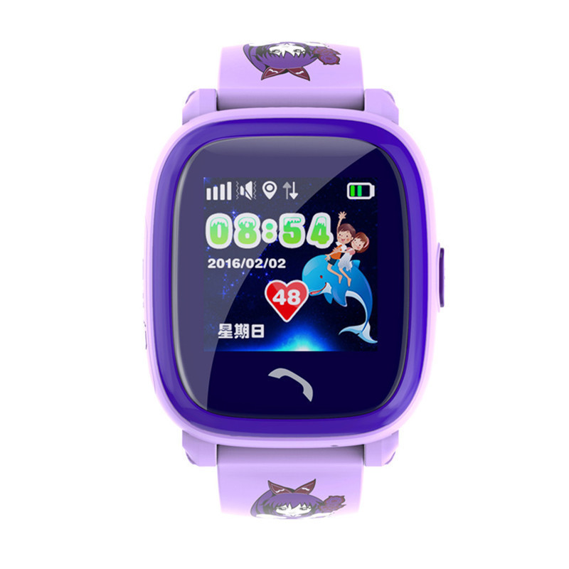 Smart Watch 1.22 HD Touch Screen Color Display GPS Tracker SOS IP67 Level for IOS Andrid System Waterproof Kids SmartWatch