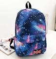 2016 Fashion Women Canvas Backpacks galaxy Printing Schoolbags For Teenagers Girls Travel Bags Bolsas Mochila Feminina