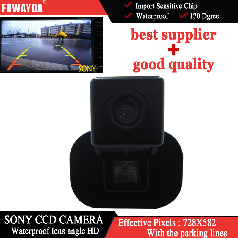 FUWAYDA CAR REAR VIEW REVERSE BACKUP PARKING COLOR SONY CCD/WATERPROOF/NIGHT VISION CAMERA FOR KIA FORTE/ Hyundai Verna image