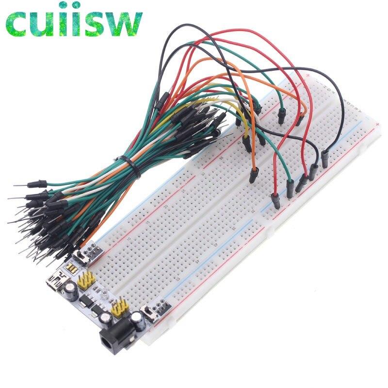 1pcs NEW MB-102 MB102 Breadboard 830 Point Solderless PCB Bread Board Test Develop DIY(China)