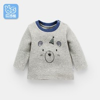 Dinstry baby 1 3 years old long sleeved shirt children spring and autumn cartoon children's T shirt bottoming shirt