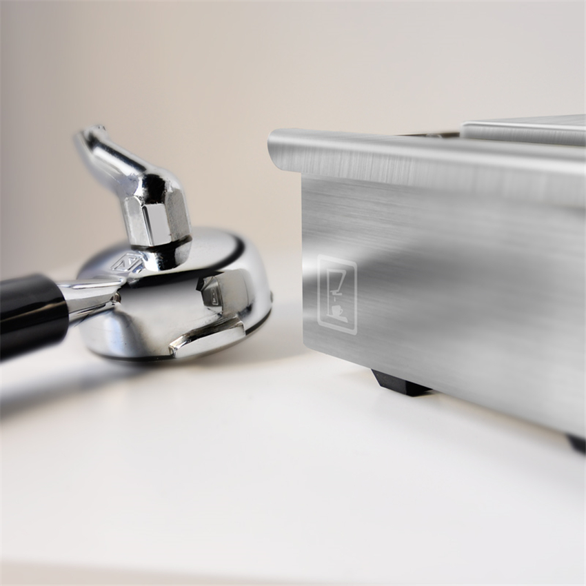 Silvery Coffee Knock Box Stainless Steel Espresso With