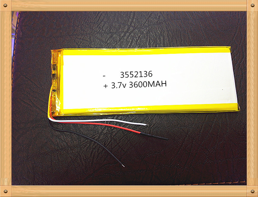 3552136 3.7 V Lithium Tablet Polymer Battery Tablet MID Panel 3600 Mah 3 Lines