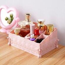European Princess style Multi-cosmetics Cosmetic Storage Box Dresser Desktop Plastic Stationery Finishing