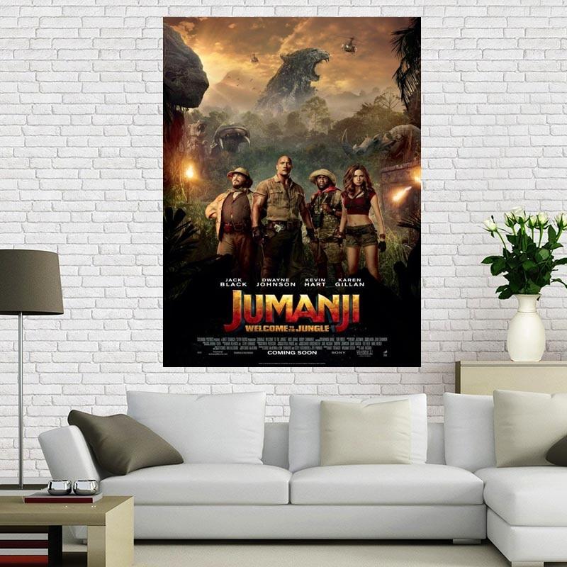 Custom Jumanji Wall Poster Home Decor 30x45cm Canvas Silks For Family Decoration Canvas Fabric Print Poster