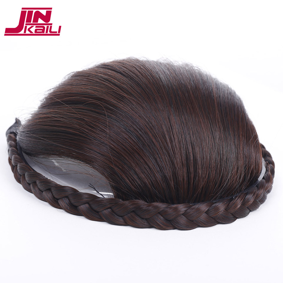 JINKAILI WIG Braids Headband Hair Bangs Fringe Hair Extensions Bang Synthetic Hairpieces With Braiding Hair Hoop