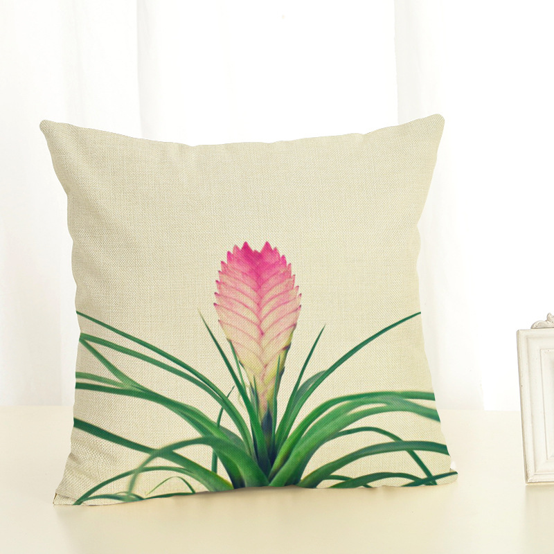 1 Piece Novelty Plant Printed Pillow Case Cover Square 45cm 45cm Cotton Pillowcase Home Decorative Customized Dropshipping in Pillow Case from Home Garden