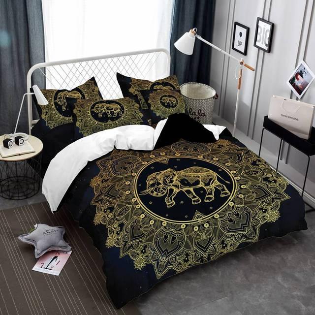 Prajna Tribal Elephant Quilt Exotic Comforter Sets Bedding Set Single Bohemia Twin Full Queen King 3pcs