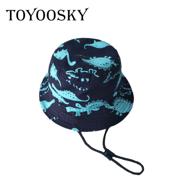 df0c9d85d3d TOYOOSKY 2017 Summer Children Hat Bucket Hat Lovely Dinosaur Printed Cartoon  Fashion Cotton Hat