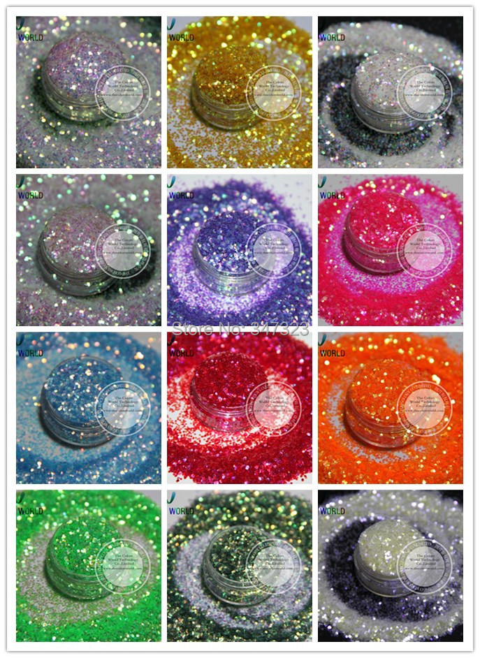 Sprinkling iridescent rainbow colors glitter spangles for for Art and craft decoration