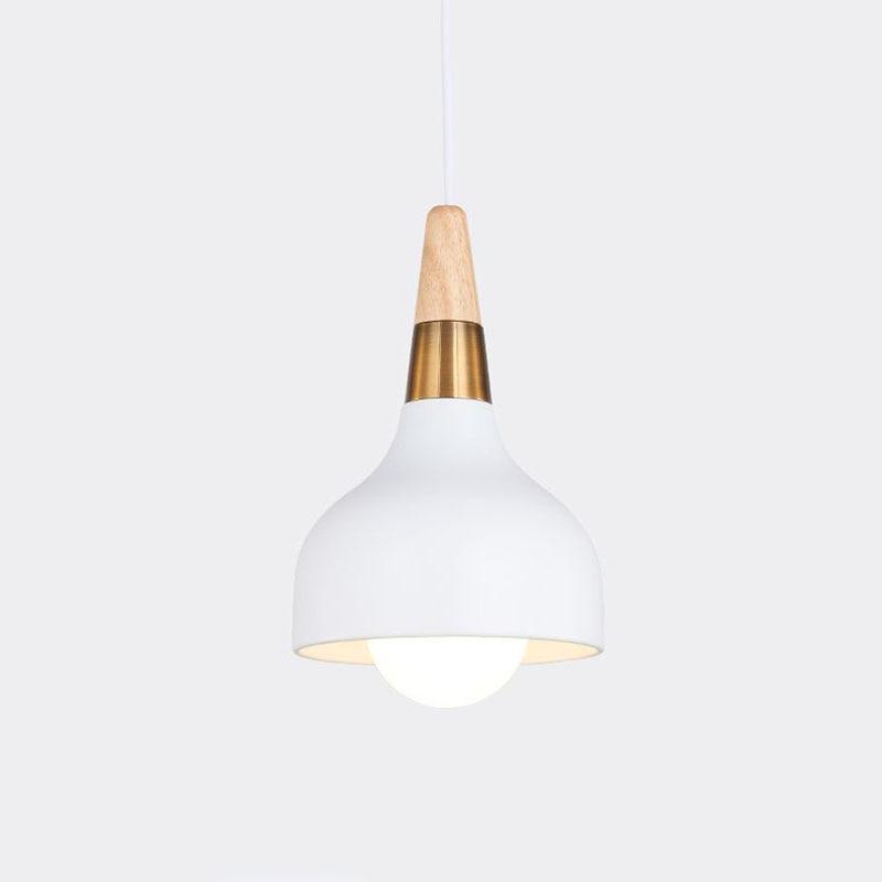 Lampara Colgante Pendant Lights Lustres Abajur Pendant Lamp Luminaire Hanglamp Wood Aluminum Lamp Shade For Home Lighting Dining in Pendant Lights from Lights Lighting