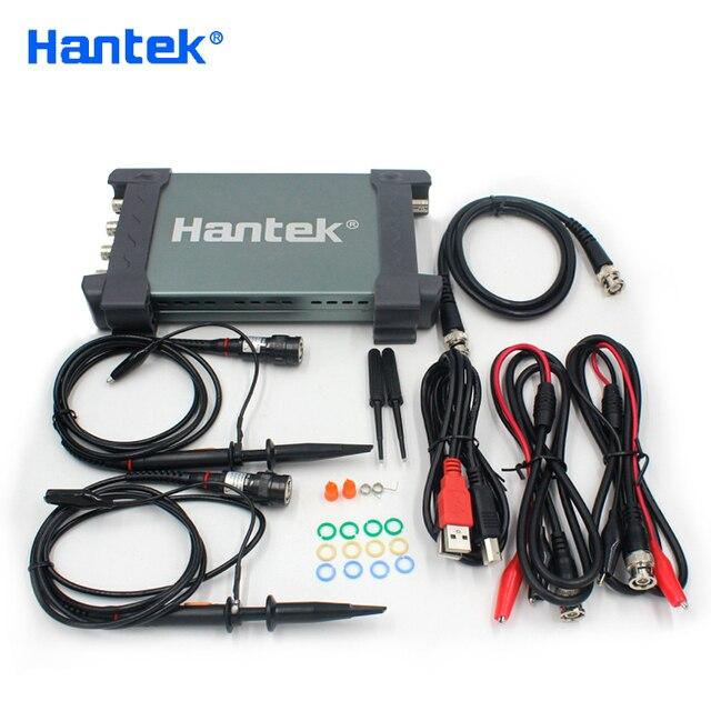 جهاز هانتك 6254BD 4 قنوات 250Mhz عرض النطاق الترددي Osiclloscope الرقمي USB الكمبيوتر المحمولة Osciloscopio مع مولد إشارة 25Mhz