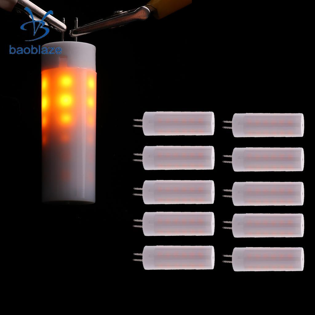 10Pcs G4 Flicker Flame Light 3W LED Burning Light Bulb Fire Effect Bulb Decorative 36L ( Warm White )