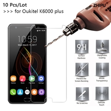 10 Pcs/Lot 2.5D 0.26mm 9H Premium Tempered Glass For Oukitel K6000 plus Screen Protector Toughened protective film
