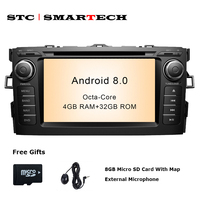 SMARTECH 2 Din Android 8 0 Car Audio Radio DVD GPS Navigation System For Toyota Auris