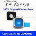 2 sets de cristal original para samsung galaxy s5 repalcement parte + cubierta de la lente lente de la cámara anillo con etiqueta adhesiva