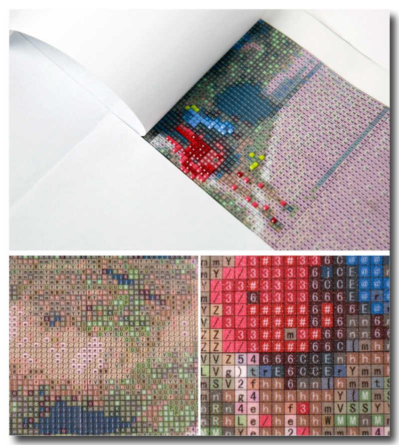 Cuisine fleur diamant broderie 3d bricolage diamant peinture Kits pour carré plein forage strass brodé mosaïque couture ZX