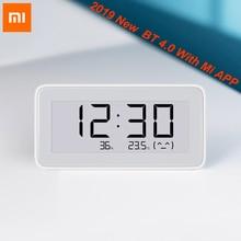 2019 새로운 원본 Xiaomi Mijia BT4.0 무선 스마트 전기 디지털 실내 및 실외 습도계 온도계 시계 도구 세트