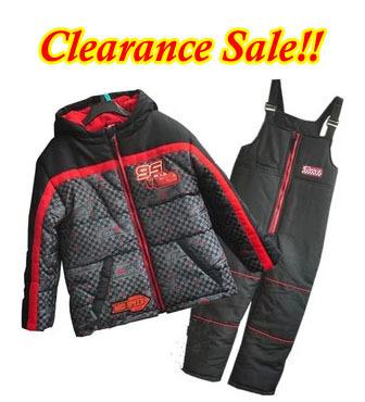 Envío gratis - liquidación! niños / cabritos / muchachos acolchado coches traje para la nieve, chaqueta y pantalones, primavera / otoño que arropan el sistema