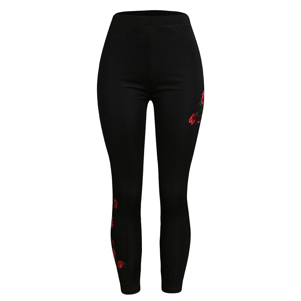 Apparel - Womens Plus Size Solid Appliques High Waist Leggings
