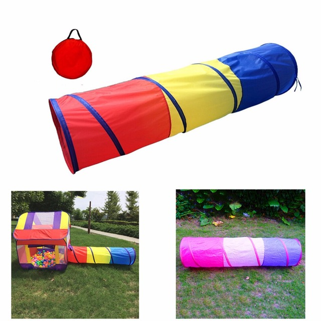 1pc 180 48 48cm Play Tunnel Toy Tent Child Kids Pop Up Discovery Best Gift