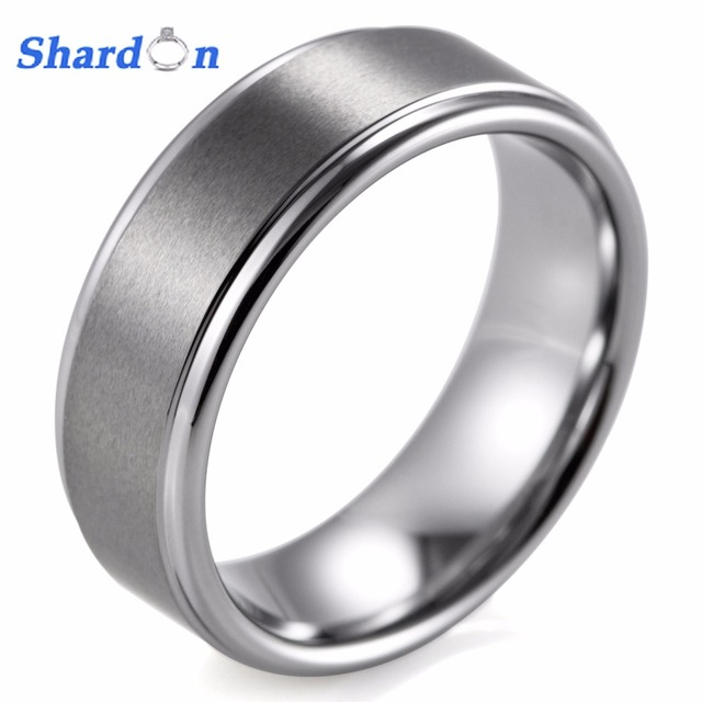 SHARDON Engagement Rings Jewelry Men Jewelry Surface Width 8mm Ring Set  Tungsten Wedding Band Sets For Bridegroom