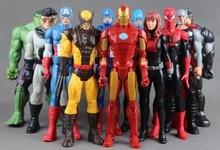 "30cm Amerikansk film Anime Super Heros Kapten America Ironman Spiderman Hulk Svart änka 12 ""PVC Figur Toy"