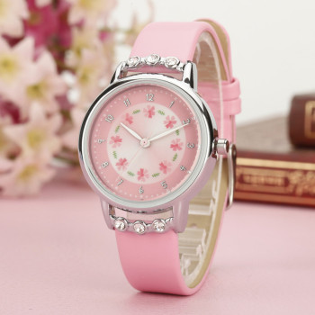 2020 New Fashion Cartoon Children Watch Cute Princess Watches Girl Student waterproof leather Quartz Clock kids diamond Watch relogio new cartoon leather quartz watch children watch orologi princess elsa anna watches boy girl gift clock relojes zegarki