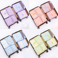 6pcs Different Sizes 2017 Newest Travel Storage Bags Thicken Portabl Waterproof Clothes Packing Cube Luggage Organizer