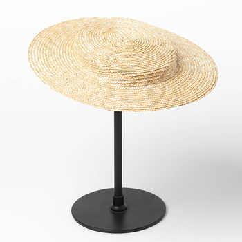 01905-HH7242 new summer High-grade handmade fine straw Elegantly accessorize small top cap men women leisure hat