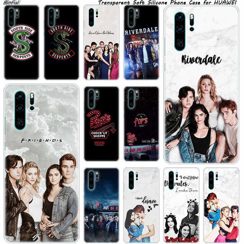 Riverdale South Side Serpents Soft Silicone Phone Case for Huawei P30 P20 Pro P10 P9 P8 Lite 2017 P Smart Z Plus 2019 NOVA 3 3i