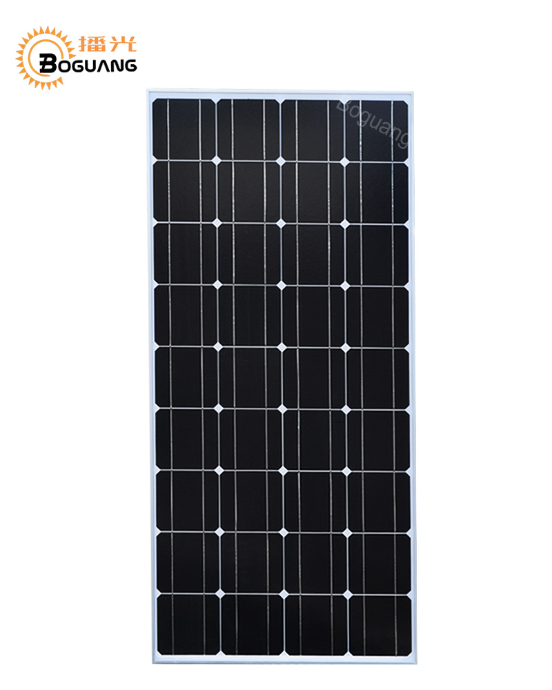 цена на BOGUANG 100w solar panel glass PV module Monocrystalline silicon cell system kit 12v battery RV light home roof power charger