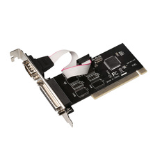 RS232 RS-232 Serial Port COM & DB25 Printer Parallel Port LPT to  PCI  Card Adapter Converter TX382A  Chip цена