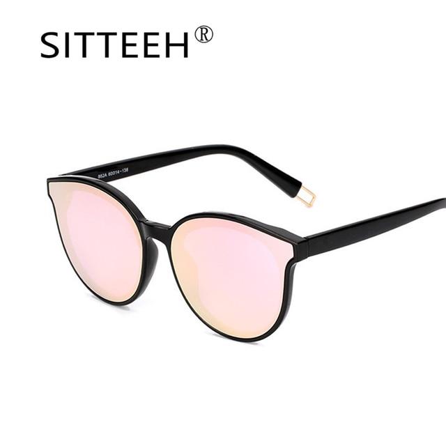 SITTEEH солнцезащитные очки кошачий глаз очки женские мужские классические зеркало Óculos gafas-де-сол люнет feminino soleil mujer feminino 2018