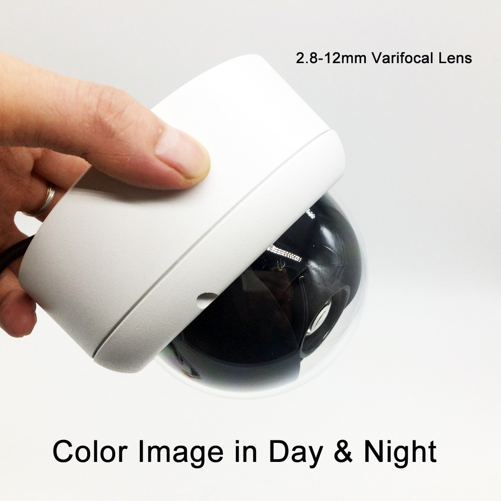 low illumination 1 3 sony ccd 700tvl with 3 6mm hd lens and audio function and osd function 1/3'' SONY Super HAD II CCD Ultra Low Lux Camera 2.8~12mm AI Varifocal lens Day and Night Color Image Dome CCTV Security Camera
