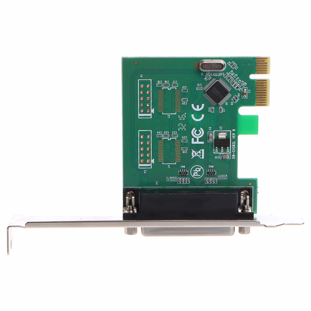 New Parallel Port DB25 25Pin LPT Printer to PCI-E Express Converter Card Adapter #K400Y# 2 port rs232 rs 232 serial port com to pci e pci express card adapter converter ax99100 chipset