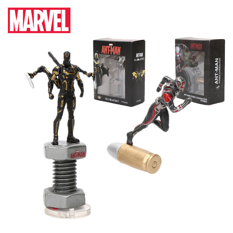 2pcs 5-7cm Marvel Toys Avengers Endgame Mini Ant man Yellowjacket PVC Action Figures Superhero Collectible Model Doll Toy Antman(China)