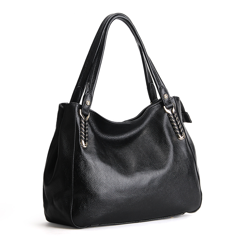 Genuine Leather Quality A+ Women Shoulder Bag Handbag Lady Casual Tote Hobos Female Crossbody Messenger Purse