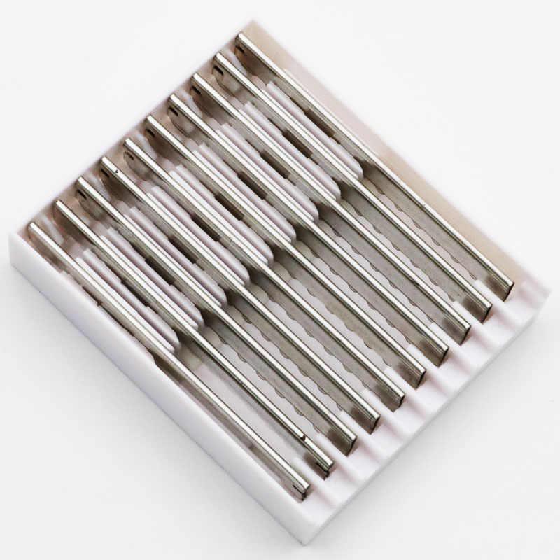 10ピース/セットシャープ間伐ブレードストレートかみそり理髪かみそり切断はさみ美容師カミソリカット理髪店供給