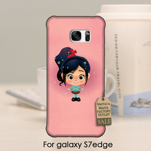 Cute Phone Accessories Wreck It Ralph Vanellope Pink Glossy Style For GALAXY s7 edge case