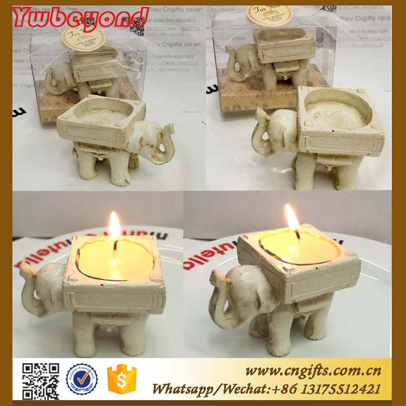 100pcs/lot get married gift Creative arts and crafts elephant Resin Tea Light Candle Holder Taiwan celebration Candlestick