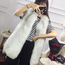 SF0245 Luxury 2017 Winter Fashion Women's Real Thick Whole Skin Style Fox Fur Waistcoat/ Furry Natural Fur Ladies' Real Fur Vest