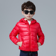 2019 New 90% White Duck Feather Ultra Light Boys Hooded Down Coat Childrens Autumn Winter Jacket for Boy Baby Outerwear